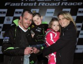 Stewart and Esdale from Dunmurry with their children Robbie and Alesha.