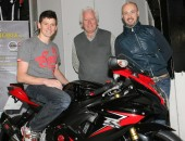 New signing Dan Kneen with team owners James & Patrick Murray